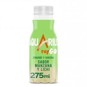 Bebida Isotónica Aquarius Raygo sabor manzana y lichi 25,5 cl.