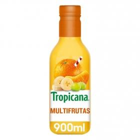 Zumo multifrutas Tropicana exprimido botella 90 cl.