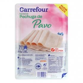 Pechuga de pavo Carrefour sin gluten 200 g.