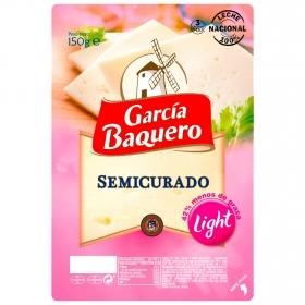 Queso semicurado light en lonchas García Baquero150 g.