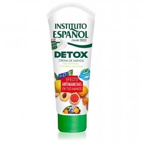 Crema de manos Detox Instituto Español 75 ml.