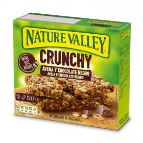 Barritas de avena y chocolate negro Cruncy Nature Valley 10 unidades de 21 g.