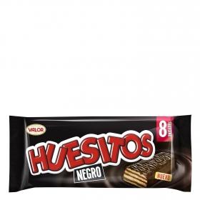 Barrita de barquillo cubierta de chocolate negro Huesitos Valor 8 ud.