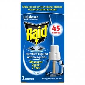 Recambio insecticida eléctrico para mósquitos común y tigre Raid 1 ud.
