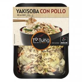 Fideos Yakisoba de pollo Ta-Tung 300 g.