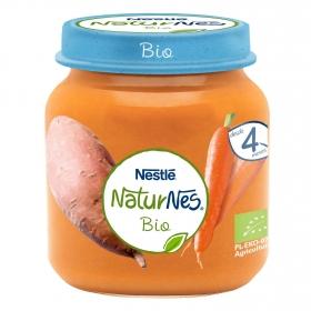 Tarrito de zanahoria y boniato ecológicos Nestlé Naturnes 125 g.