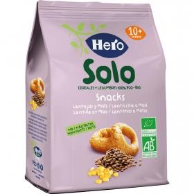 Snacks de lentejas y maíz ecológicos Hero Baby Solo 50 g.