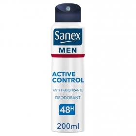 Desodorante en spray para hombre Dermo Active Control Sanex 200 ml.