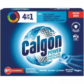 Pastillas antical para lavadoras 3 en 1 en Calgon 45 ud.