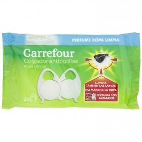 Colgador antipolillas perfume ropa limpia Carrefour 2 ud.