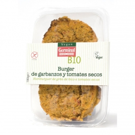 Burguer de tomate y garbanzos secosecológico sin gluten Vegan Germinal 180 g.