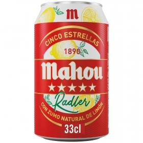Cerveza Mahou 5 Estrellas Radler con limón lata 33 cl.