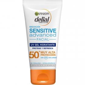 Protector solar facial Sensitive Advanced FP 50+ Antienvejecimiento Delial 50 ml.