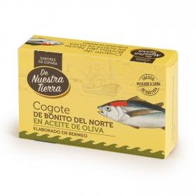 Cogote de bonito del norte en filetes en aceite de oliva De Nuestra Tierra 85 g.