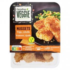 Nuggets vegetal de proteínas de trigo y cebolla Carrefour Veggie 200 g.