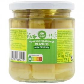 Yemas de espárragos blancos Carrefour 345 g.