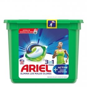 Detergente en cápsulas 3 en 1 Pods Active Ariel 22 ud.