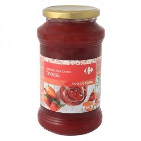 Mermelada de fresa catgoría extra Carrefour 650 g.