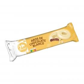 Aros de chocolate blanco Carrefour 150 g.