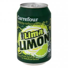 Refresco de lima-limón Carrefour con gas lata 33 cl.