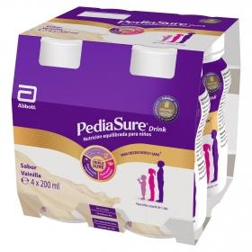 Complemento alimenticio desde 12 meses sabor vainilla Pediasure Drink pack de 4 unidades de 200 ml.