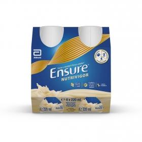 Complemento alimenticio con proteína, vitaminasy minerales de vainilla Ensure pack de 4 unidades de220 ml.