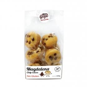 Magdalenas con pepitas de chocolate Garpe sin gluten 250 g.