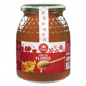 Miel de flores Carrefour 1 kg.