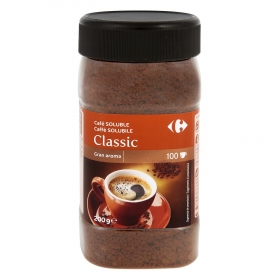 Café soluble natural Carrefour 200 g.
