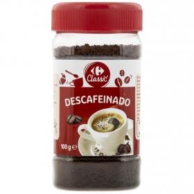 Café soluble mezcla descafeinado Carrefour 100 g.