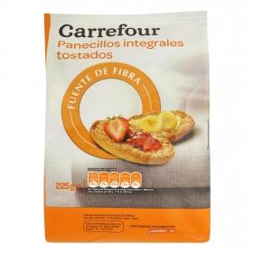 Barritas tostadas integrales con fibra Carrefour 225 g.