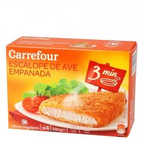 Pollo empanado muy crujiente Carrefour 330 g.