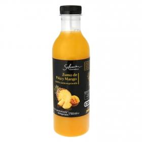 Zumo de piña y mango Carrefour Selección exprimido botella 75 cl.