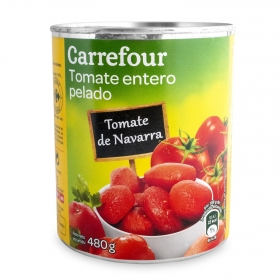 Tomate natural pelado Carrefour 480 g.