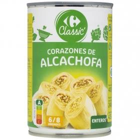 Corazones de alcachofas 6/8 piezas Carrefour 240 g.