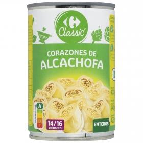 Corazones de alcachofas 14/16 piezas Carrefour 240 g.