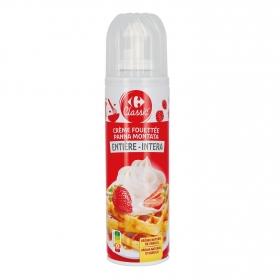 Nata montada azucarada Carrefour spray 250 ml.