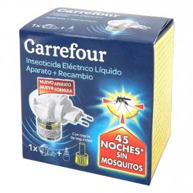 Insecticida eléctrico antimosquitos líquido aparato + recambio Carrefour 1 ud.