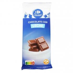 Chocolate con leche extrafino Carrefour 150 g.