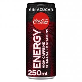 Bebida energética Coca Cola Energy sin azúcar lata 25 cl.