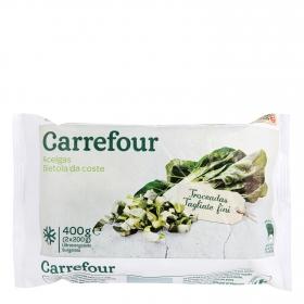 Acelgas en hoja Carrefour 400 g.