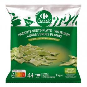Judías verdes planas Carrefour 1 kg.