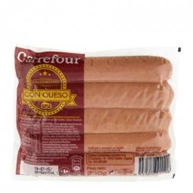 Salchichas con queso Carrefour 200 g.