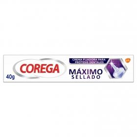 Crema fijadora para prótesis máximo sellado Corega 40 g.