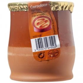 Natillas al huevo con caramelo Carrefour sin gluten 140 g.
