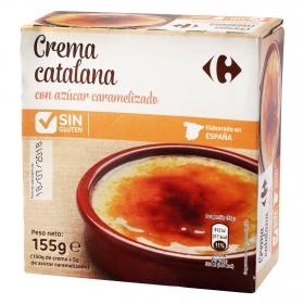 Crema catalana con azúcar caramelizado Carrefour sin gluten 155 g.