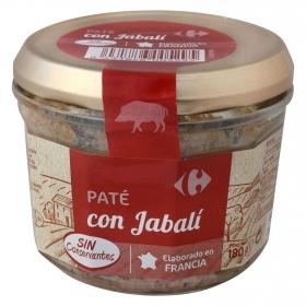 Paté de jabalí Carrefour 180 g.