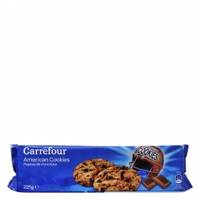 Galletas con pepitas de chocolate Carrefour 225 g.