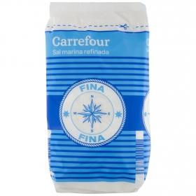 Sal marina fina Carrefour 1 kg.