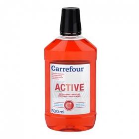 Enjuague bucal antiplaca Carrefour 500 ml.
